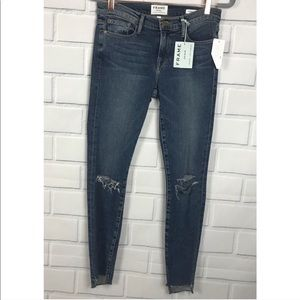 Frame Denim Le Skinny Jeanne Destroyed Jeans 27